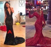 Cheap Reference Images 2K16 Prom Dresses Best Trumpet/Mermaid V-Neck Long Sleeves prom dresses