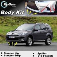 Wholesale Bumper Lip Lips For Citroen C7 C Crosser Front Skirt Deflector Spoiler For Car Tuning The Stig Recommend Body Kit Strip