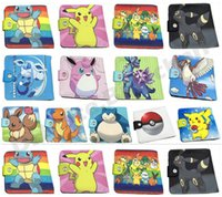 Wholesale New Poke Wallets purse Poke Go wallets Pikachu Wallets Card Holder Poke Go Wallets Cartoon students wallets Poke Coin Bags D653