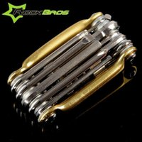 Wholesale ROCKBROS in Bicycle Tools Bike Repair Kit Cycling Professional Accessories Alloy Multi Functional Portable Tool K6045