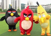 angry bear - 2016 Custom Made High Quality Angry Red Birds Mascot Costumes Bear For Adults Mascot Costume Festival Fancy Dress