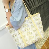 Wholesale The new spring summer fashionable sweet lady ice cream color lace bag Shoulder Bags Handbag Beach Bags Composite Bag Women Tote