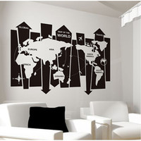 abstract of paper - Removable Waterproof Wall Stickers Cartoon Bedroom Living Room Toilet Office Abstract map of the world Stickers Home Decor