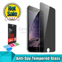 Wholesale For iphone s plus s Samsung Galaxy S5 S6 S7 Note LG G5 G4 Privacy tempered glass Anti spy screen protector shatter proof