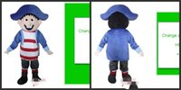athletic blue hat - Customized A boy with a blue hat mascot costume Fancy Dress Halloween Dress Adult