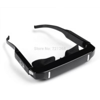 Wholesale Mobile Theatre HD P Video Glasses Movie inch GB TF card Virtual Screen EyeWear Adjustable Pupil D Video Glasses free DHL