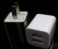 Wholesale Dual USB Wall Charger Universal Home Travel Power Adapter Adaptor Charging A A US EU Plug for iPhone Samsung