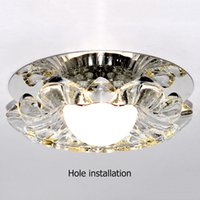 arrival suspended ceiling - New Arrival Corridor Mirror Ceiling Lamp Aisle Veranda Lighting Down Crystal Mordern Surface Mounted LED Ceiling Lights For Hall