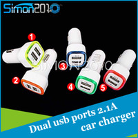 Wholesale Dual USB car charger LED light up car Adapter rocket style double usb ports chargers for iPhone s plus ipad Samsung
