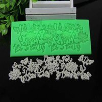 Wholesale Silicone Baking Fondant Flower Lace Mold Chocolate Cake Decoration Mould Laciness Birthday Wedding Decoration DIY Baking Tool
