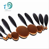 Wholesale 10 Pieces Oval Makeup Brush Cosmetic Foundation Cream Powder Blush Makeup Tool