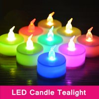 battery tealight - Christmas lights cm Battery operated Flicker Flameless LED Tealight Tea Candles Light Wedding Birthday Party Christmas Decoration