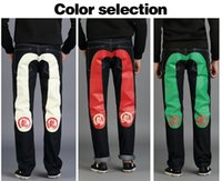 Wholesale men s jeans In four seasons fashion cowboy style brand high quality jeans CHUANGUZHE famous designer
