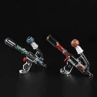 gun water pipe - 2016 hitman glass toro bong Corlorful Oil Rigs Bongs Glass Water Pipes Gun Shape Glass Pipes mm With Dome And Nail ML05008