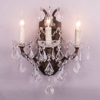 bathroom candles - large big luxury Bathroom Vanity Lights wall lamps fashional antique rust french crystal candle wall lamp lighting fixture