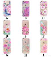 acrylic card case - 2016 Burst Selling Case Cover For Apple iphone S P Clear Acrylic Decorated Flowers Series Colorful Printing