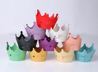 baby shower princess - 50pcs Pack Princess Crown Baby Shower Birthday Party Laser Cut Celebration Decor Cupcake Wrapper Wraps Case