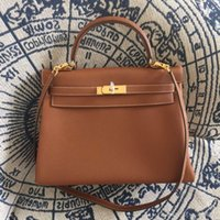 authentic branded handbags - Famous brand Hand Stitching classic KY Togo leather handmade Authentic quot H quot bag togo luxury handbags women messenger bags