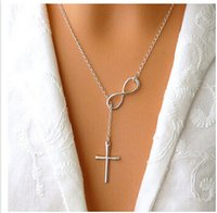 accessories forever - Cross Leaf Choker Necklace Women Casual Personality Infinity Cross Lariat Pendant Silver Plated Necklace Forever Faith Jewelry Accessory