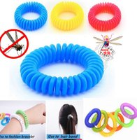 band coils - Mosquito Repellent Bracelet Anti mosquito bracelet Wrist Band Elastic Coil Spiral hand Wrist telephone Ring Chain bracelet KKA392