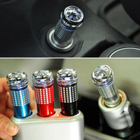 Wholesale 100Pcs New V Mini Auto Car Fresh Air Ionic Purifier Oxygen Bar Ozone Ionizer Cleaner Power Filter ZB0276