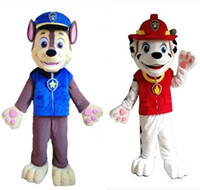 Wholesale Adult Lovely Patrol Marchall Dog Mascot Costume Suit Cartoon Character Dog cartoon Costume fancy dreess Hall factory directly sale
