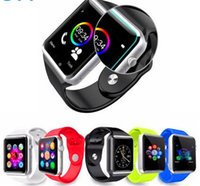 venda por atacado china watches-2016 Nova A1 Bluetooth relógio inteligente relógio de pulso Men Sport Watch para Apple iPhone 6 Samsung Android / IOS telefone PK GT08 Smartwatch China direto