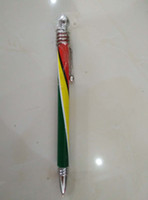 Wholesale Guyana National Flags Ballpoint Pens Plastic Metal Pens Customize Pens DHL UPS Hot