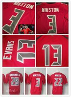 Wholesale 100 Stitched Tampa Bay Men s Elite Red Football Jerseys Winston Evans etc Discount Football Jerseys