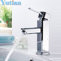 Wholesale single hole bathroom tap Brass water faucet ceramic Basin Faucets mixer torneira YT
