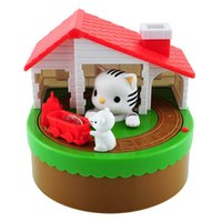 Wholesale Zorn toys Piggy Bank CAT MOUSE BANK Kitty Hungry Cat Eating Electric Coin Bank Money Saving Box Eating money pot Stealing money tank