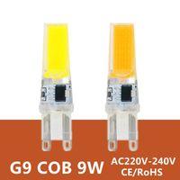 Wholesale G9 Led Lamp Bulb V W COB SMD LED Lighting Lights replace Halogen Spotlight Chandelier Light V V Lampada Led G9 Bulb