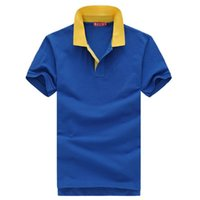 advertising polo shirts - Hot Selling Solid Polo Shirt T shirt Men Unisex Short Sleeve T shirt Lapel Nightwear T shirt Advertising Clothing