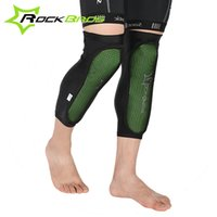 Wholesale RockBros Green Knee Protector Bicycle Knee Pads Outdoor Sport Cycling Knee Caps MTB Mountain Bike Anticollision Calf Pads