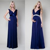 dresses for pregnant women - 2016 maternity evening dresses plunging criss over v neck flowing a line floor length royal blue chiffon prom dresses for pregnant women