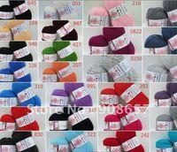 Wholesale 5 g Skeins Wool Milk Cotton Fiber Coat Sweater Yarn g with Red Black Yellow Green Orange Purple colors