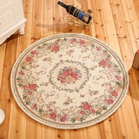Wholesale Big size London style rose floral chair mat parlon decoration carpet round beige ground mat cm cm