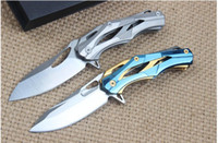 Wholesale 2016 Alexey Konygin Decepticon Folding Knife Steel Blade Handle Survival Outdoor Tools EDC