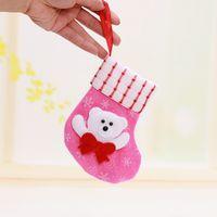 christmas fabric - Santas Stocking Kids Favourite Styles Christmas Stocking Non Woven fabric Christmas Socks Gift Bags Decorative Socks Candy Bags