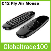 Wholesale Fly Air Mouse GHz Mini Wireless Keyboard C120 Rechargeable Remote Controller for Android TV Box Mini PC Free DHL