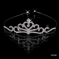 beautiful tiaras - Cheap Crowns Popular Beautiful Hair Accessories Comb Crystals Rhinestone Bridal Wedding Party Tiara inch inch