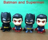 batman collectables - 4pcs anime Movie Batman VS Superman figure Batman and Superman PVC Action Figure Collectable Model Kids Toys cm
