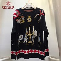 autumn candles - beading candles embroidery top quality sweater long sleeves pullover women s autumn sweaters brand design Sweaters