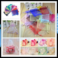 Wholesale Organza Bag Wedding Decoration x9 cm Favor Jewelry Packaging Goodie Gifts Pouch Drawing For Party Candy Bag Display