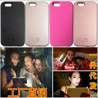 apple timers - iphone LED illuminated case selfie fill in light Self Timer exposure cases lights up your face cover for iphone s plus S SE plus