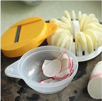 Wholesale 50 Set New Microwave Fruit Vegetable Potato Crisp Chip Slicer Snack Maker DIY Tray Cooking Tools
