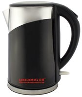 Wholesale Lee Wong Q cordless electrIc kettle The Newest safety auto off funtion cookware L fashion black and fashion red stainless steel