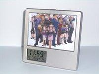 al por mayor reloj del escritorio de múltiples-New Ace Attorney Phoenix Wright Despertador Creative Digital Reloj de escritorio multifunción Calendario Calendario de la pluma Photo Frame Alarm Clock