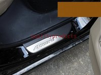 Wholesale LED light Door Stainless Door Sill Plate Guard For Honda Accord car styling
