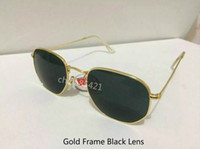 Wholesale NEW Men s Women s Sunglasses N Eyewear Classic Gold Frame Black Glass Lens With Brown Case